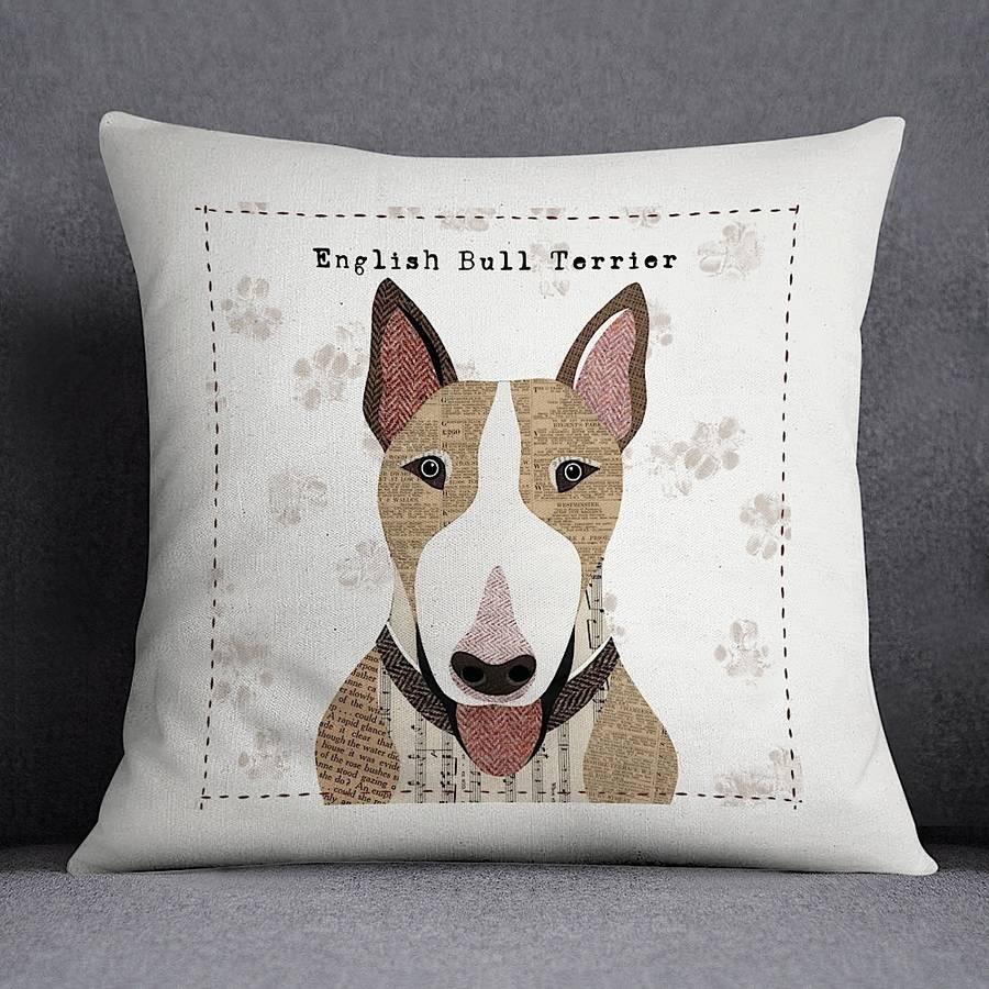 English Bull Terrier Personalised Cushion Cover