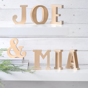 Gold Freestanding Letters - decorative letters & signs