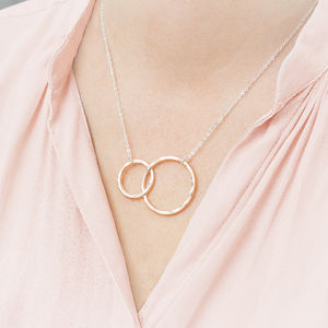 Personalised Infinity Circle Of Life Necklace