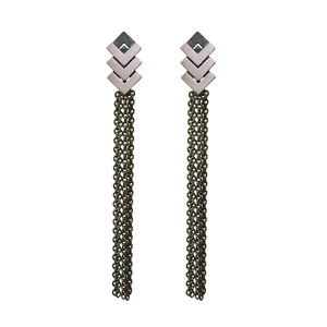 Rhythm Triple Chain Drop Earrings - earrings