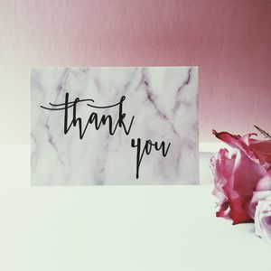 Marble Thank You Card - thank you cards