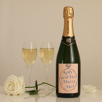 Will you marry me champagne