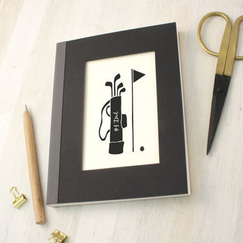 Personalised Father's Day Golf Notebook