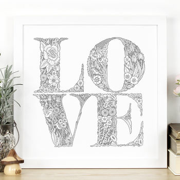 'Love' Hand Lettered Print