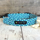 Splash Liberty Print Geometric Dog Collar