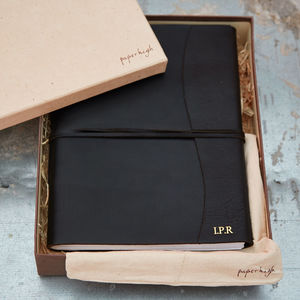 Antara Chunky Black Leather Photo Album - the ethical collection