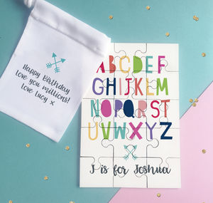 Personalised Alphabet Name Puzzle