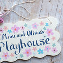 girls playhouse sign