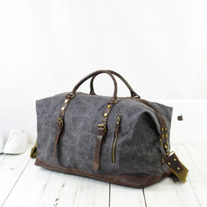 Unisex Canvas Travel Holdall Luggage Bag - sale