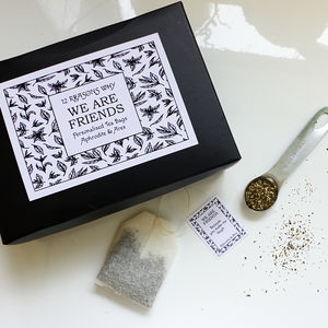 12 Reasons Why We Are Friends Personalised Tea Gift Set - summer sale