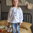 Being Nice Is Cool White Embroidered Sweatshirt Jumper