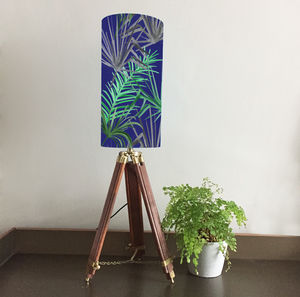 Tropical Leaf Patterned Lampshade - lighting