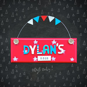 Personalised Stars Door Plaque - children's room