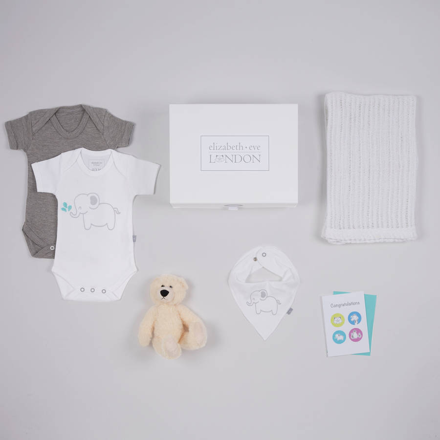 Emmie elephant baby gift hamper six 12 months by elizabeth eve emmie elephant baby gift hamper six 12 months negle Images