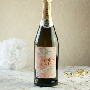 Alternative Easter Egg Personalised Prosecco - wine