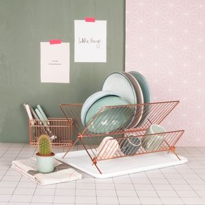 Copper Dish Rack - spring home refresh