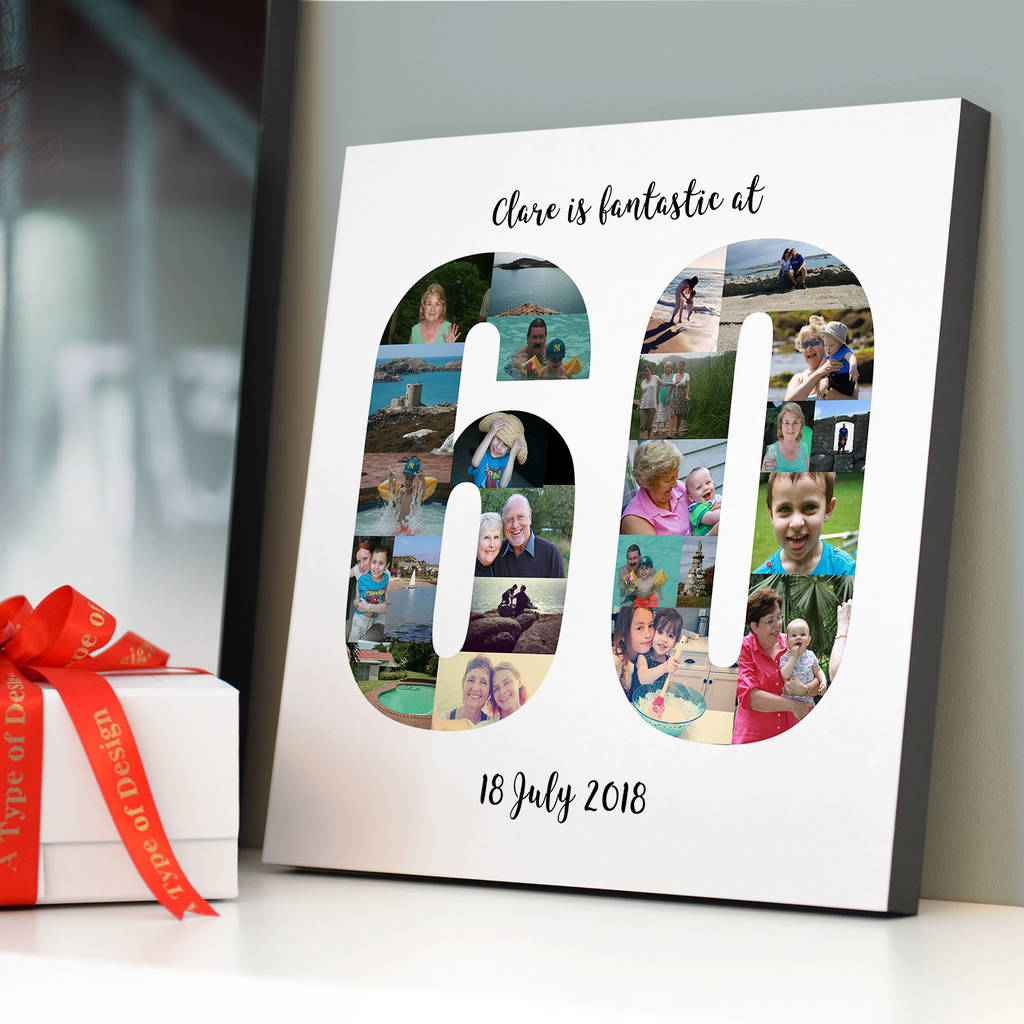Personalised 60th Birthday Photo Collage By A Type Of Design