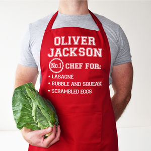 Personalised Chef Best Dishes Apron