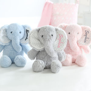 Personalised Super Soft Cuddly Elephant Plush Toy
