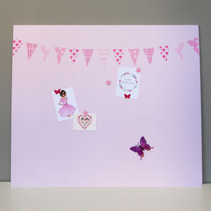 Giant Pink Bunting Magnetic Noticeboard - decorative accessories