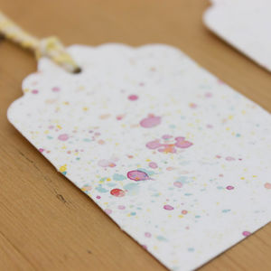 10 Colour Burst Gift Tags With Bakers Twine