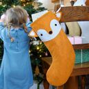Fox Handmade Felt Dress Up Christmas Stocking