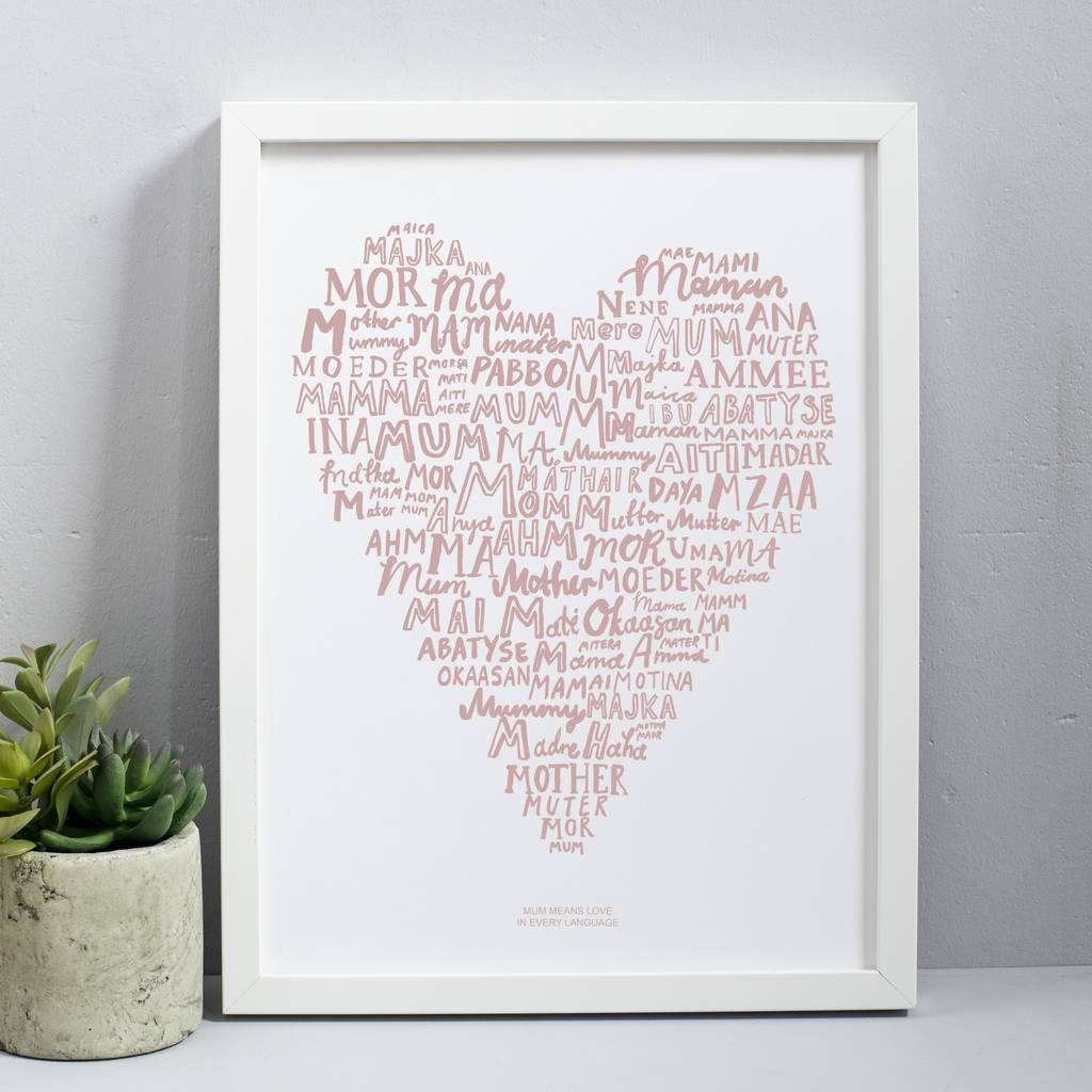Language In 45 And 47 Stella Street: Mum Means Love In Every Language Print By Karin åkesson