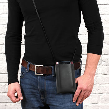 Men's Personalised Luxury Italian Leather Travel Pouch