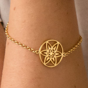 18ct Gold Plated Daffodil Bracelet