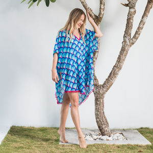 Frida Kaftan In Island - kaftans & cover-ups