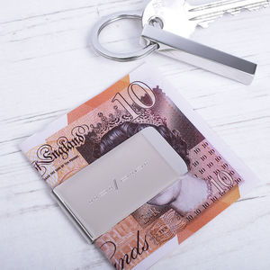 Morse Code Personalised Initial Money Clip