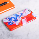 Marble Design Phone Case Red, White, Blue And Yellow