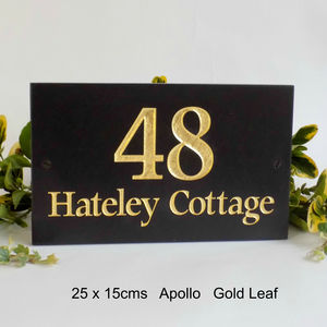 Personalised Gold Leaf Signs