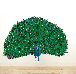 Wall Sticker Peacock - wall stickers