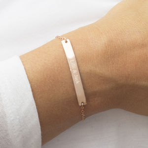 Personalised Sterling Silver Bar Bracelet - wedding jewellery