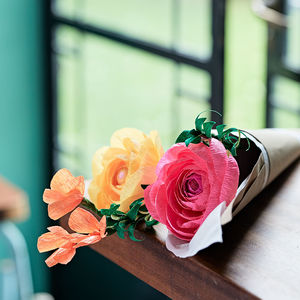 Paper Ranunculus Flower Bunch - gifts for her