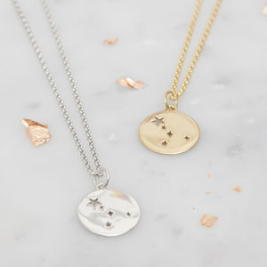 Cancer Constellation Necklace Silver, Gold Or Rose - black friday sale