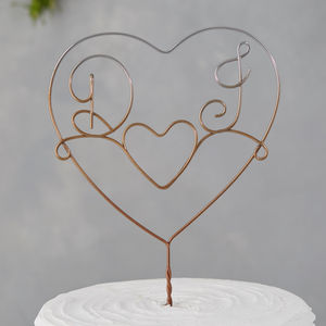 Ombre Initials Cake Topper - new in wedding styling