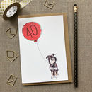 Personalised 40th Birthday Card Dog Design