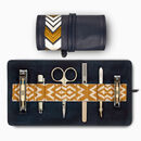 Men's Travel Grooming Roll Manicure Set, Navy Blue