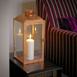 Copper Candle Lantern - outdoor decorations