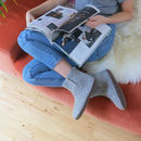 Bidi Handmade Felt Slipper Boots With Suede Sole