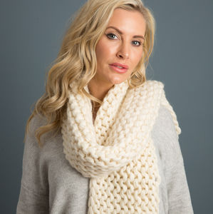 Chunky Scarf For Beginners Knitting Kit