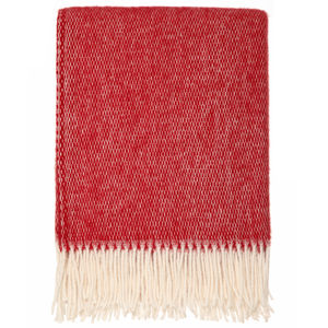 Plain Cherry Wool Throw - throws, blankets & fabric