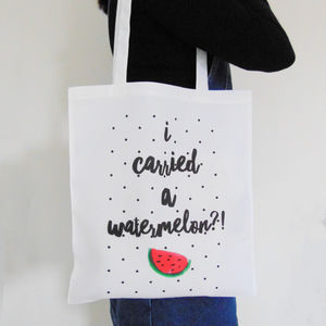 'I carried a watermelon?!' Dirty Dancing Tote Bag - foldaway bags