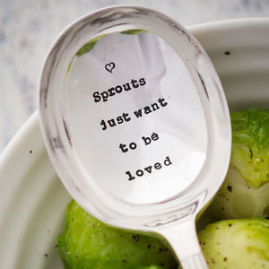 'Sprouts Just Want To Be Loved' Christmas Table Spoon