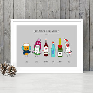 Personalised 'Christmas With' Print - new in prints & art