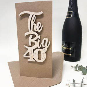 Personalised 'The Big 40' Birthday Card