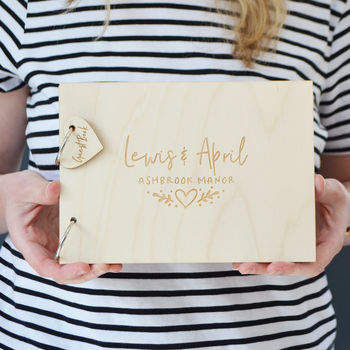 Personalised Floral Heart Wedding Guest Book