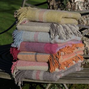 100% Shetland Wool Throws - bedding & accessories